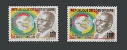 IVORY COAST COTE D'IVOIRE - MICHEL 1481/2 1481 1482 LEOPOLD SENGHOR CORNER FULL SET - 2006 - RARE - MNH ** - Côte D'Ivoire (1960-...)