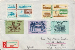 Postal History Covers: Hungary R Cover With Full Tennis Stamps - Tennis