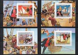 BURKINA FASO / 1986 CHRISTOPHE COLOMB Superbe Série 4 Blocs Individuels ND MNH Cote + De 25.00 Vente 6.00 Euros - Cristóbal Colón