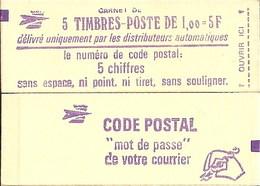 """CARNET 1972-C 1 Sabine """"CODE POSTAL"""" Avec R.E. Fermé état Soigné Bas Prix, à Saisir. - Usage Courant"""
