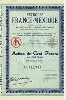 PETROLES FRANCE MEXIQUE 1927  B.E.VOIR SCANS - Automobile