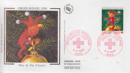 Enveloppe  FDC   1er Jour    FRANCE   CROIX  ROUGE    1998 - FDC