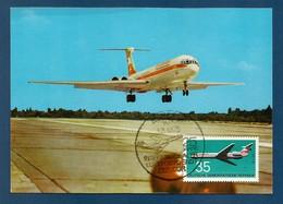 DDR  1972  Mi.Nr.1751 , Flugzeuge - Maximum Card - Luftpostdienst Der DDR 1.3.1975 - DDR