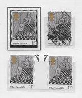 William Caxton 1976; Stamps Chess Ajedrez - 1952-.... (Elizabeth II)