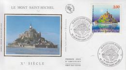 Enveloppe  FDC   1er Jour    FRANCE     LE  MONT  SAINT -  MICHEL    1998 - FDC