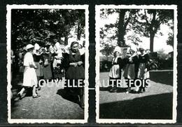 3 PHOTOS - FOUESNANT AOUT 1938 ( COSTUMES BRETONS ET PARDON ). - Places