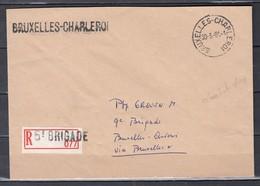 Aangetekende Brief Van Bruxelles-Charleroi Naar Bruxelles 5e Brigade - Ambulantes