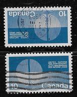 CANADA, 1970, USED #513-3i, 25 YEAR OF UNITED NATIONS  DULL & FLUO - 1952-.... Règne D'Elizabeth II