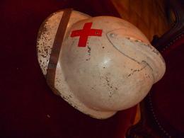 Casque 39/45  De La Croix Rouge Complet - Casques & Coiffures