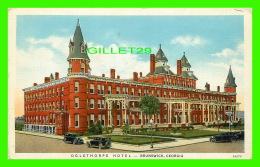 BRUNSWICK, GA - OGLETHORPE HOTEL - ANIMATED WITH OLD CARS -  COURIER-JOURNAL JOB PRINTING CO - - United States