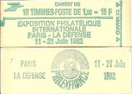 """CARNET 2155-C 2 Sabine De Gandon """"PHILEXFRANCE 82"""" Avec R.E. Conf. 4 Fermé Bas Prix Parfait état RARE - Usage Courant"""