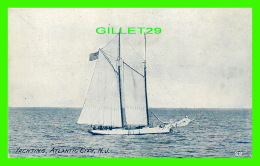 VOILIERS -  YACHTING, ATLANTIC CITY, NJ -  POST CARD DIST. CO - 3/4 BACK - - Voiliers