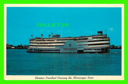 SHIPS - BATEAUX - STEAMER PRESIDENT CRUISING THE MISSISSIPI RIVER -  TRAVEL IN 1964  - - Paquebots