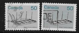 CANADA, 1985, USED # 930 & 930i  Pale ARIFACT: SLEIGHT   USED - 1952-.... Règne D'Elizabeth II