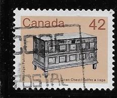 CANADA 1987, USED # 1081iii DULL FLUO, ARTIFACT: LINEN CHEST - 1952-.... Règne D'Elizabeth II