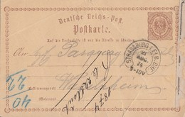 DR Ganzsache Hufeisenstempel Strassburg I. Els. BHF. 23.8.74 - Briefe U. Dokumente