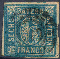 Stamp Bavaria 1862 6kr Used Lot57 - Bavière