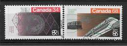 CANADA 1986, USED # 1092-93, EXPO 86 EXPO CENTER & TRASPORTATION  SET - 1952-.... Règne D'Elizabeth II