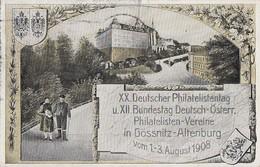 DR Privat-GS Minr.PP27 C98/012 SST Gössnitz 2.8.08 XX. Dt. Philatag - Briefe U. Dokumente