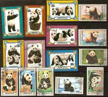 MONGOLIA #1110-16 - GIANT  PANDAS - 2 COMPLETE SETS - Mongolia