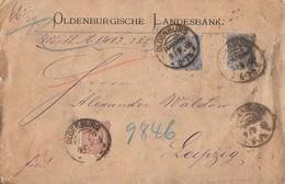 DR Wertbrief Mif Minr.2x 42, 43 KOS Oldenburg 9.9.86 - Briefe U. Dokumente