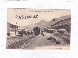 CPA :   -  Ligne Du Chemin De Fer Du Fayet-Saint-Gervais, Gare P.L.M., Au Mont Blanc. 719. La Station Du Mont Lachat - Saint-Gervais-les-Bains