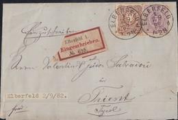 DR R-Brief Mif Minr.40, 43 Elberfeld 2.9.82 - Briefe U. Dokumente
