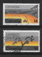 CANADA, 1978, USED # 759i-60i ,  COMMONWEALTH GAMES  78  USED  SET - 1952-.... Règne D'Elizabeth II