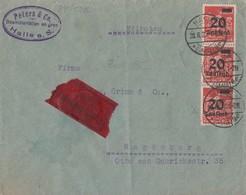 DR Brief Eilbote Mef Minr.3x 280 Halle 28.8.23 Gel. Nach Magdeburg - Deutschland