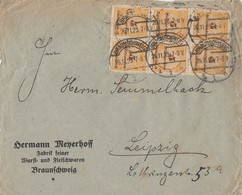 DR Brief Mef Minr.6x 327B Braunschweig 26.11.23 Novemberbrief - Deutschland