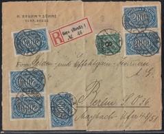 DR R-Brief Mif Minr.20x 252,6x 253, 278 Gera (Reuß)27.8.23 - Deutschland