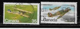 CANADA, 1979, USED # 875-6,  AIRCRAFT: MILITARY AIRCRAFT , - 1952-.... Règne D'Elizabeth II