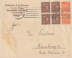 DR Werbebrief Andresen & Jochimsen Mif Minr.4x 180 4er Block, 2x 189 Altona 23.11.22 - Deutschland