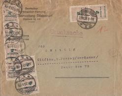 DR Brief Mif Minr.8x 326B Düsseldorf 30.11.23 Gel. In USA Geprüft - Deutschland