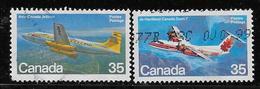 CANADA, 1981, USED  # 905-6. AIRCRAFT CANADA, AVION , - 1952-.... Règne D'Elizabeth II