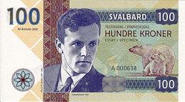 Norvège Svalbard 100 Kroner  2018  Spécimen UNC  Helge Marcus Ingstad - Norvège