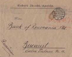DR Brief Handschriftlich Gebühr Bezahlt Apolda 31.8.23 Geprüft Gel. Nach Rumänien - Deutschland