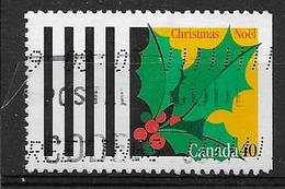 CANADA 1995, USED # 1588, CHRISTMAS : HOLLY - Carnets