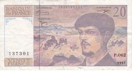 BILLETE DE FRANCIA DE 20 FRANCS DEL AÑO 1997 SERIE P.062   (BANKNOTE) CLAUDE DEBUSSY - 20 F 1980-1997 ''Debussy''