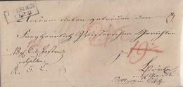 Brief Zackenrandstempel Dresden 7.6.1821 Mit Inhalt Ansehen !!!!!!!!!!!! - Deutschland