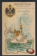 Schiffspost Ansichtskarte Hertha Feier Als Menukarte Manila EF Philippinen  - Briefmarken