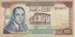 BILLETE DE MARRUECOS DE 100 DIRHAMS DEL  AÑO 1985  (BANKNOTE) - Maroc
