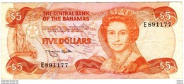 Bahamas 5 Dollars 1974 - Bahamas