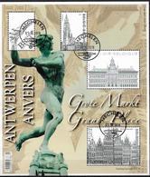 2014 Belgien Mi.  Bl. 182 Used Berühmte Stadtzentren - Antwerpen. - Blocks & Kleinbögen 1962-....