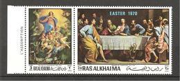 RAS ALKHAIMA - 1970 PHILIPPE DE CHAMPAIGNE Assunzione E Ultima Cena 2v. (museo Belle Arti, Lione)  Nuovo*** MNH - Religion