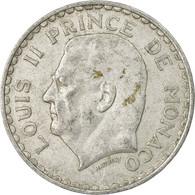Monnaie, Monaco, Louis II, 5 Francs, 1945, Poissy, TB+, Aluminium - Monaco