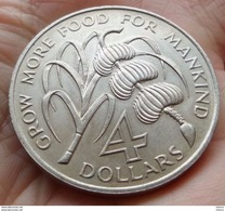 Barbados 4 Dollars 1970 FAO - Barbades