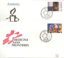 BELG.1991 2422 & 2423 - FDC Antwerpen - Internationale Solidariteit/Solidarité Internationale - FDC