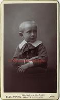 CDV-épreuve Au Charbon-superbe Portrait D'un Enfant--photo Bellingard à Lyon - Photos