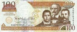 DOMINICAN REPUBLIC 100 PESOS DOMINICANOS 2012 P-184b UNC  [DO713a] - Dominicana